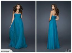 TEAL BLUE BEADING CHIFFON FORMAL LONG DRESS 10