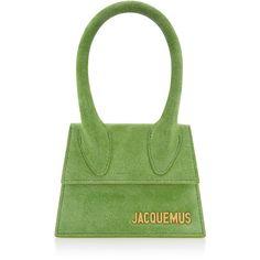 Le Sac Chiquito | Moda Operandi ($550) ❤ liked on Polyvore featuring bags, handbags, jacquemus, suede purse, fold over purse, miniature handbags, green handbags and mini handbags