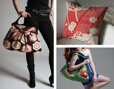 Obi Handbags and Kimono Pillows - by Grace Design