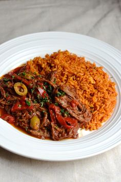 An easy recipe for Cuban-style ropa vieja made on the stove in one pot.