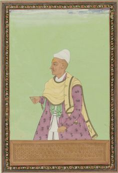 Portrait of Madanna, tax clerk of Abul Hasan Padshah. Gouache drawing, c. 1677-87, anonymous, Rijksmuseum