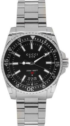 1246839c397 Gucci Silver XL Dive Watch