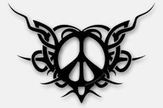 black peace tattoo - Google Search Peace Sign Symbol, Peace Sign Art, Peace Signs, Peace Tattoos, Peace Meaning, Never See You Again, Graffiti Alphabet, Tribal Tattoos, Tatoos