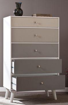 Grey ombre dresser #DIY #idea