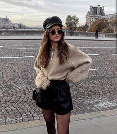 Cómo lucir una cintura más pequeña con outfits favorecedores Europe Outfits, Paris Outfits, Winter Fashion Outfits, Mode Outfits, Look Fashion, Paris Winter Fashion, Hot Fall Outfits, Cute Casual Outfits, Short Outfits
