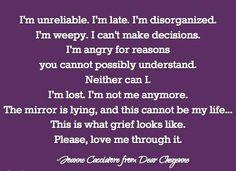 Please love me through it..