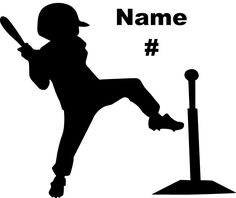 Personalized Baseball Decal Little League T - ball Boy- Made In USA.