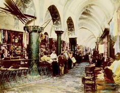 kapalıçarşı 1890 Grand Bazaar, Once Upon A Time, Middle East, Old Photos, Greek, Pictures, Countries, Islam, Ottoman