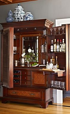 The Havana Barmoire: A Fusion of Bar & Armoire. Click to read why this piece is a must-have... | Frontgate Blog