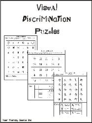 Visual Discrimination Puzzles. also has many other fine motor resources for sale.