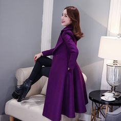 New Fashion 2017 Winter Women Wool Coat Long Slim Covered Button Turn-Down Collar Warm Coats Elegant Solid Overcoat For Female