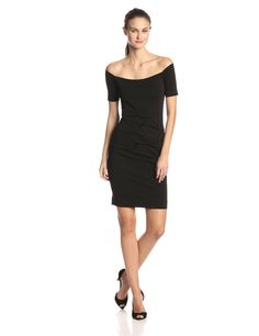 52adc3d8f704 Stretchy Matte Jersey Tidal Pleat Dress by Nicole Miller