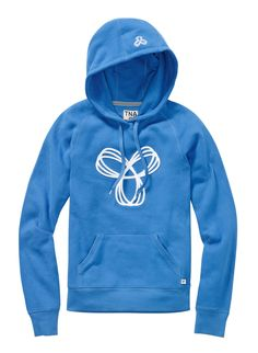 This is a pullover hoodie with raglan sleeves and a front kanga pocket. It's made with Tna's Classic Fleece — an ultra-plush, brushed fabric that keeps its shape and gets better with wear. This version of the Baltic has a embroidered Spiro. Tna Sweater, Winter Fun, Sport Wear, Hoodies, Clothes For Women, My Style, Sleeves, Sweaters, How To Wear
