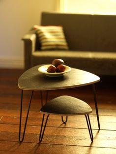 A pair of lovely zigon tables.