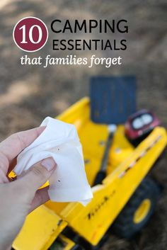 Camping essentials that families often tend to leave behind