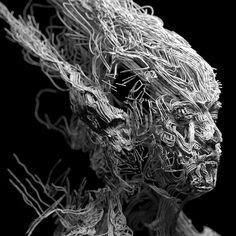 Abstract Portraits by Lee Griggs - Faith is Torment   Art and Design Blog