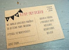 Good Idea for an RSVP instead of the traditional note with an envelope!