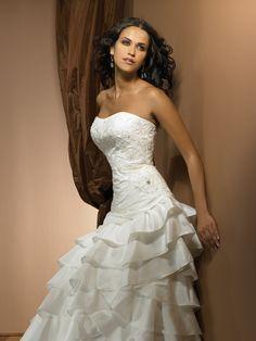 Exclusive Bridals by Allure 2306. Stunning strapless wedding dress. #wedding #weddingdress #allure #allurebridals