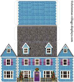 Christmas Village Card Model