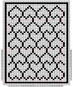 Telpatroon hartendeken babydeken. Voor een dekentje van 8 hartjes moet je 143 lossen opzetten. 1e toer beginnen met 3 lossen voor het eerste stokje, dus in totaal 146 lossen.