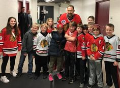 Some lucky Winnetka Warriors Squirts met Chicago Blackhawks Legend Ed Belfour before a game! Youth Hockey, Chicago Blackhawks, Conan, Warriors, Sports, Hs Sports, Excercise, Sport, Exercise