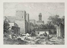 1894 Print Torcello Calli e Canali Bridge Canal Venice Gondola Tower View Fatimid Caliphate, Mediterranean Architecture, Ares, Cairo, Islamic Art, Egyptian, Venice, Graphic Art, Monochrome
