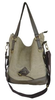 Otium 20228MCF Retro Canvas Handbag Tote Bag,Garment Washed Coffee,$32.69