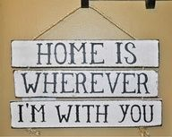 Instructions to make your own HOME IS WHEREVER I'M WITH YOU sign from wood pallet. #DIY #milspouse www.operationwear...