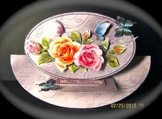 Card Gallery - Roses and butterflies rocker easel card kit