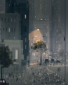 Strangers in the city #pascalcampion #thanksgiving #pascalcampionart by pascalcampionart