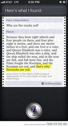 That's why firetrucks are red