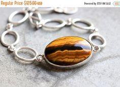 OOAK Tiger eye Bracelet  sterling silver bracelet by Studio1980