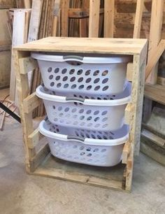 diy laundry chest