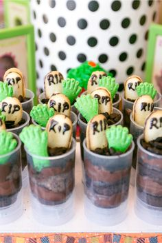 Zombie cake push pops for Halloween by Jennifer Perkins