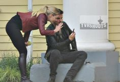 """Jennifer Morrison and Colin O'Donoghue - Behind the scenes - 6 * 1 """"The Savior"""" - 12th July 2016"""