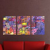 Found it at Wayfair - Euro Colorful Town Panoramic Wall Decal
