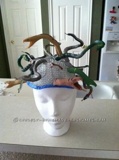 Coolest Homemade Medusa Costume ... This website is the Pinterest of costumes
