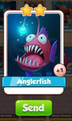 Anglerfish Card - Ocean Set - from Coin Master Cards - Tassie Books Game Cards, Card Games, Electronic Cards, Sale Purchase, Angler Fish, Online Games, Coins, Ocean, Messages
