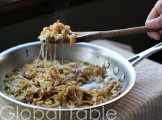 KasNocken (Spaetzel with cheese and carmelized onion)