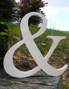 """15.7"""" Wooden letters Ampersand Photography UNPAINTED - DIY Wedding Decor EngagementWooden Alphabet Letters Photography prop"""