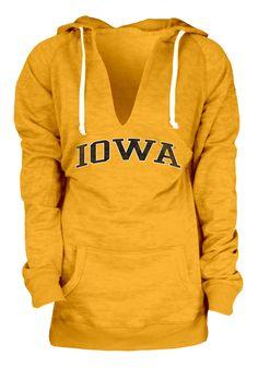 Iowa Hawkeyes Womens Gold Fleece Pullover Hooded Sweatshirt Gotta Love it!