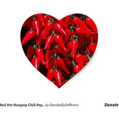 Red Hot Hanging Chili Peppers Image Design Heart Sticker (290 RUB) ❤ liked on Polyvore featuring home, home decor, office accessories, backgrounds, red office accessories, heart stickers and heart shaped stickers