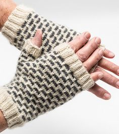 Chasmere & Alpaca Fingerless Mitts by byhandbyjean on Etsy