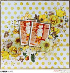 Kaisercraft Golden Grove Layout by Alicia McNamara Scrapbook Albums, Scrapbooking Layouts, Photo Layouts, Creating A Blog, Ink Pads, Create Your Own, Projects To Try, Challenges, Cards