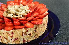 meine süsse werkstatt: Eine Symphonie in rot weiß - Erdbeer-Frischkäsetorte nach Pierre Hermé #ichbacksmir #erdbeeren #strawberries