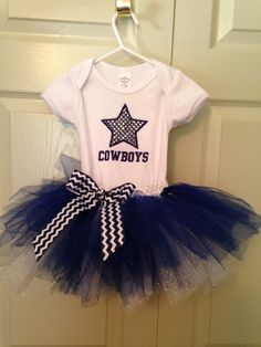 Items similar to Cowboys infant outfit on Etsy Cowboy Outfits, Baby Outfits, Kids Outfits, Dallas Cowboys Tutu, Cowboy Baby Shower, Kids Tutu, Cute Baby Clothes, Baby Girl Fashion, Trending Outfits