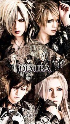 DIAURA  Yo-ka (Vocalista) Kei ( guitarrista) Shoya (bajista) Tatsuya (baterista)