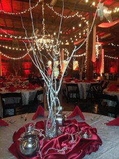The Red and Silver are perfect for a winter event!