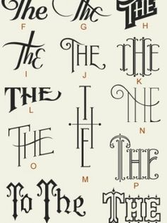 The the #lettering #tipografia #the #gd