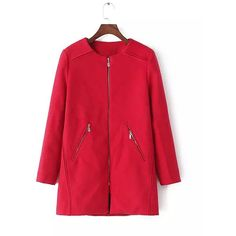 Yoins Duster Coat In Red ($64) ❤ liked on Polyvore featuring outerwear, coats, coats & jackets, red, long coat, longline coat, duster coat, long red coat and red duster coat